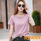 小清新造型V領短袖T恤 (共六色)-ROANN
