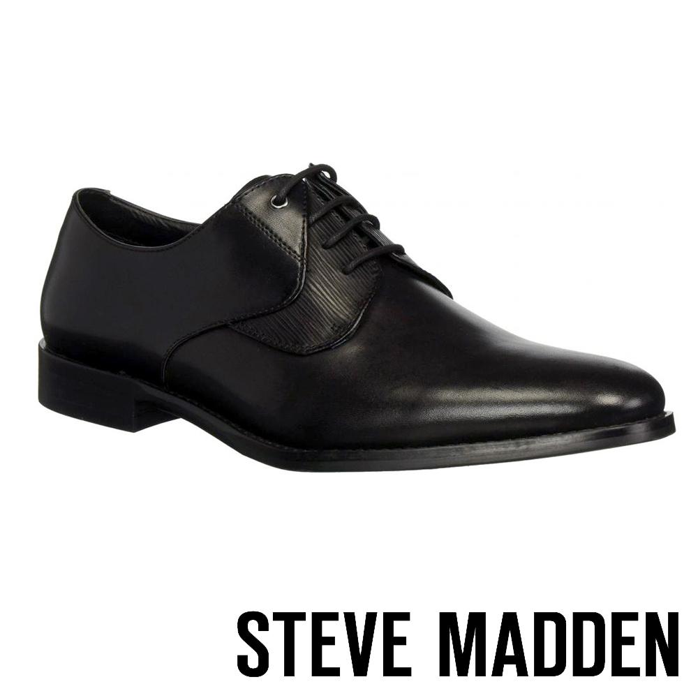 STEVE MADDEN-PLACKS特殊壓紋設計紳士鞋-黑色