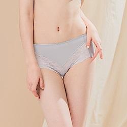 台灣製無痕蕾絲速乾透氣舒適 L-2XL 內褲 灰色 Clany可蘭霓
