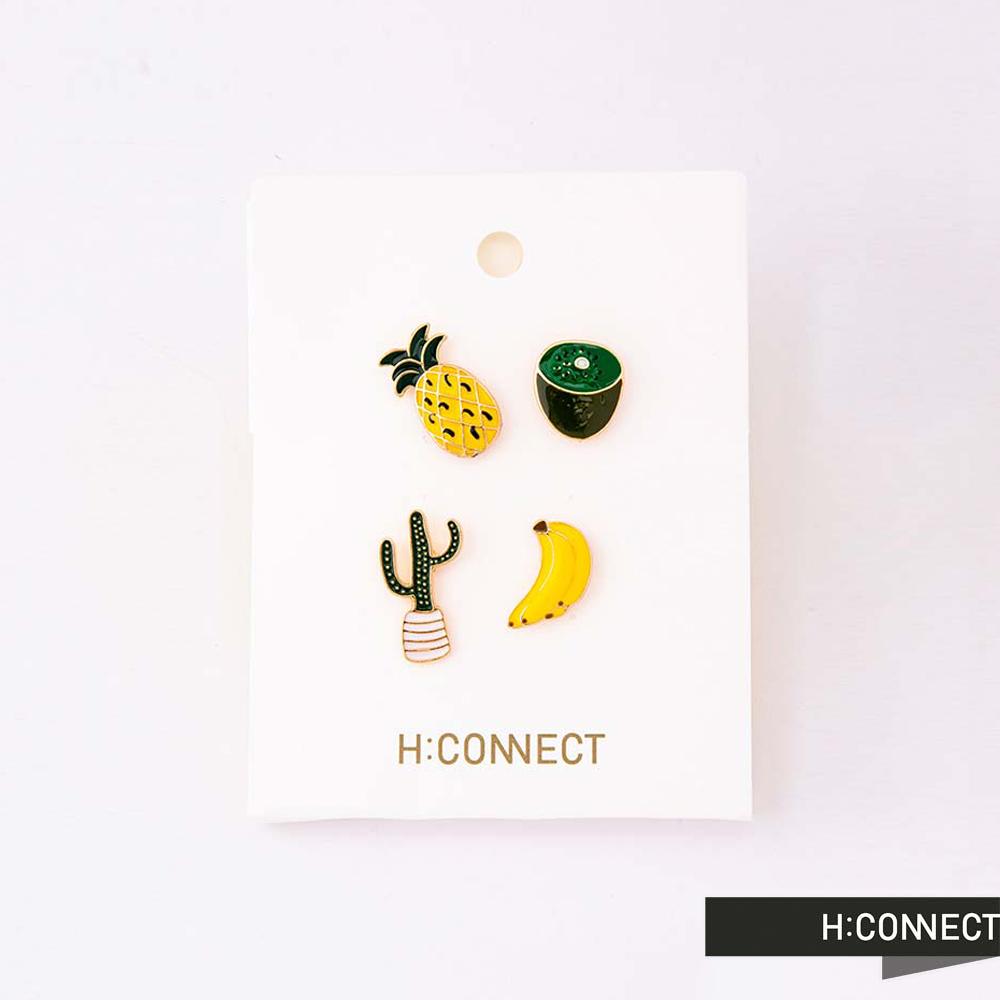 H:CONNECT 韓國品牌 -可愛造型別針組-黃