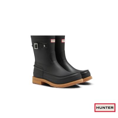 HUNTER - 男鞋 - Original MOC TOE輕量霧面短靴 - 黑