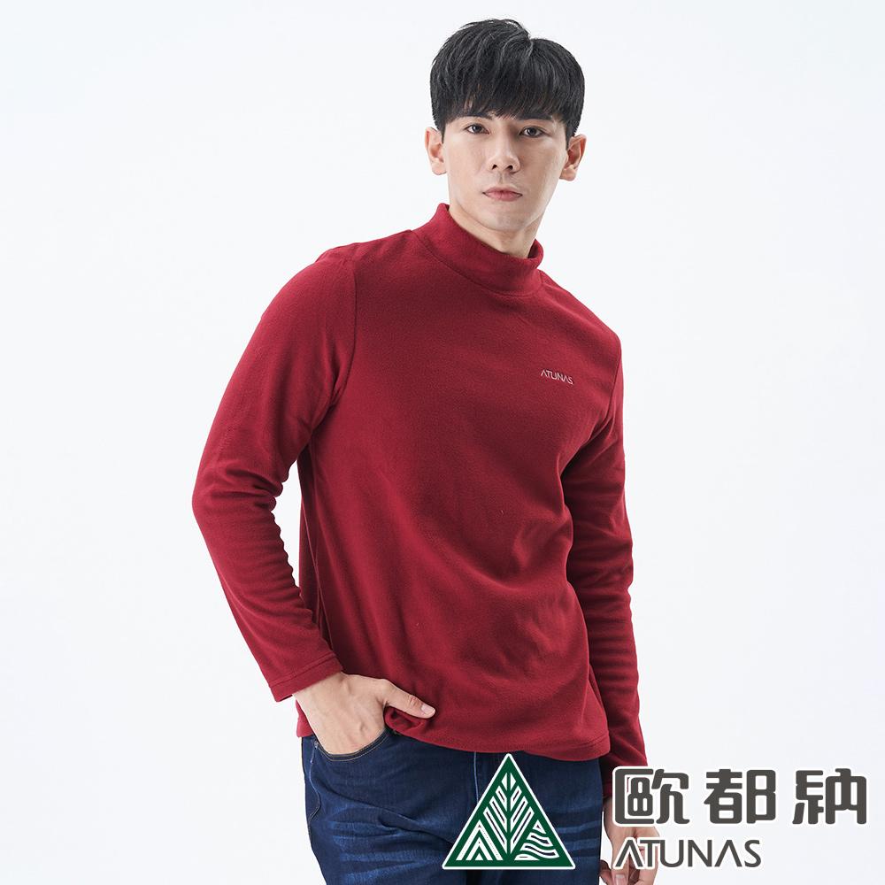【ATUNAS 歐都納】男款POLARTEC MICRO長袖套頭衫A1PS1914M暗紅