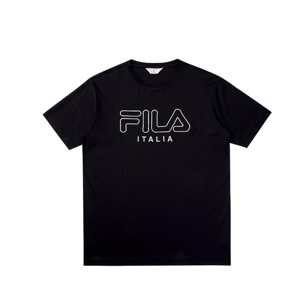 FILA 短袖圓領T恤-黑色 1TEV-1458-BK