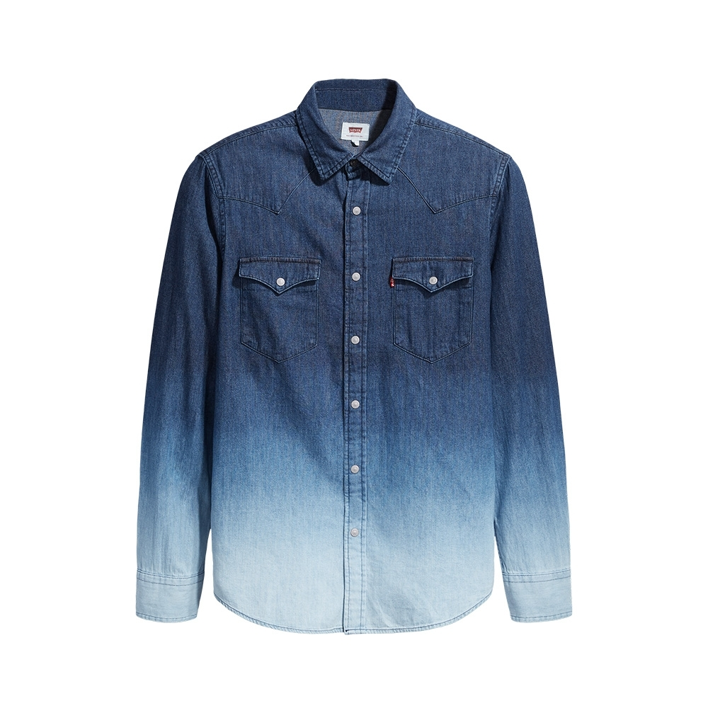 Levis 男款 牛仔襯衫 休閒版型 漸層水洗