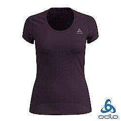 Odlo 女 銀離子抗臭 輕量 F-DRY快乾 圓領短袖內層衣 李子紫