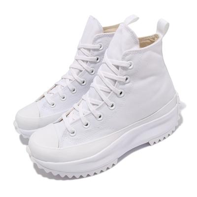 Converse 休閒鞋 Run Star Hike 穿搭 男女鞋 高筒 厚底 舒適 增高 情侶款 帆布 全白 170777C