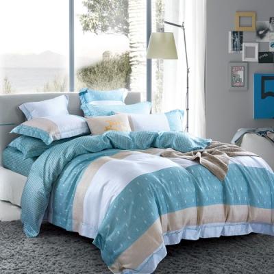 Ania Casa 芒草 天絲 100% TENCEL 雙人鋪棉兩用被套床包四件組