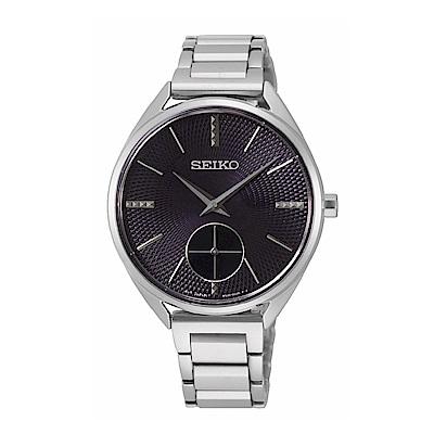 SEIKO精工 復古優雅小秒針腕錶6G28-00Y0D(SRKZ51P1)