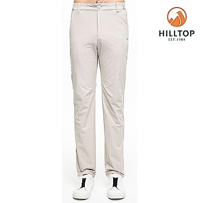 【hilltop山頂鳥】男款超潑水抗UV彈性長褲S07MC0城堡灰