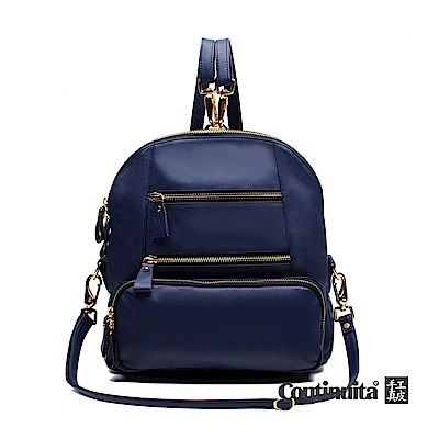 Continuita 康緹尼 多拉鍊袋後背包-藍色
