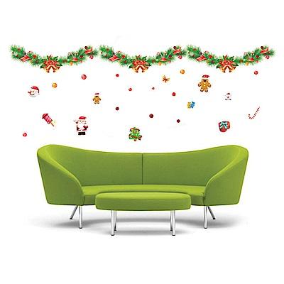半島良品 DIY無痕壁貼-繽紛聖誕節 XY8136  60x90cm