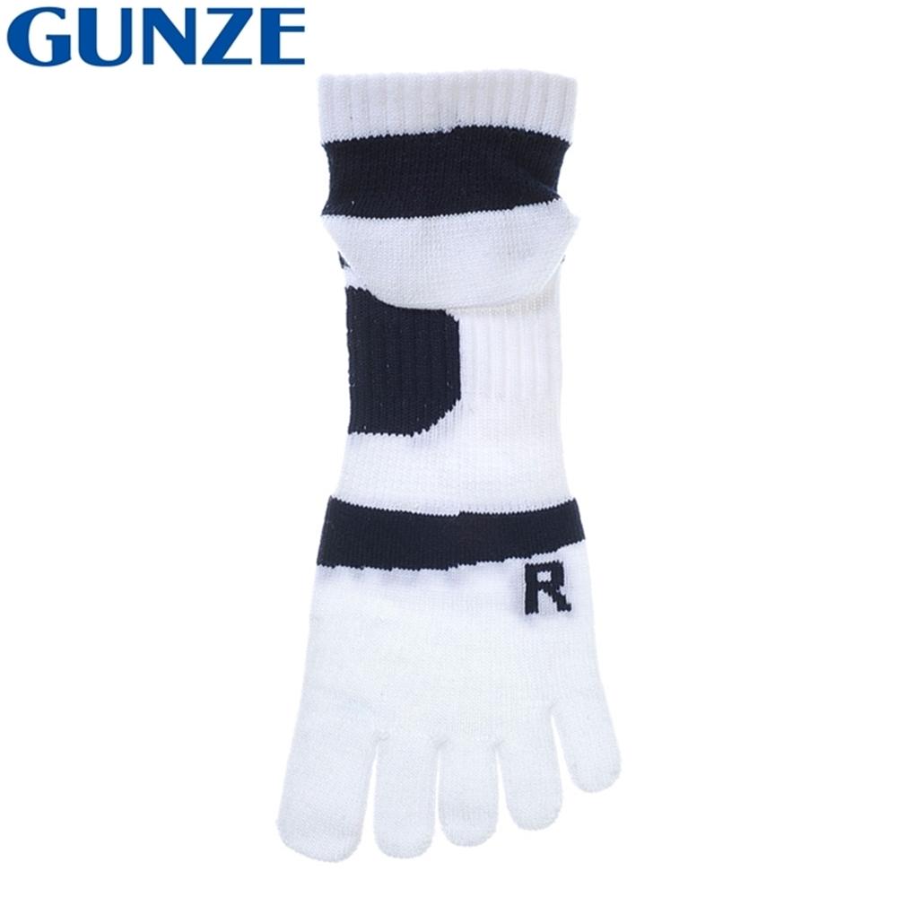 日本郡是GUNZE消臭除臭Ag+銀離子ACTIVE STYLE五趾襪五本指襪吸濕排汗襪ASC403(足底拱形支撐)5指襪