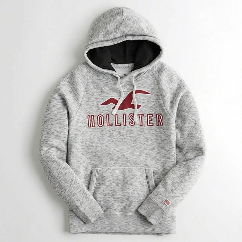 Hollister HCO 長袖 帽T  灰色 0981