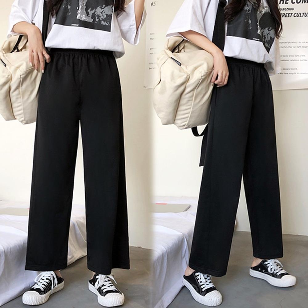 【韓國K.W.】(預購)狂賣千雙獨特簡約寬褲-2色