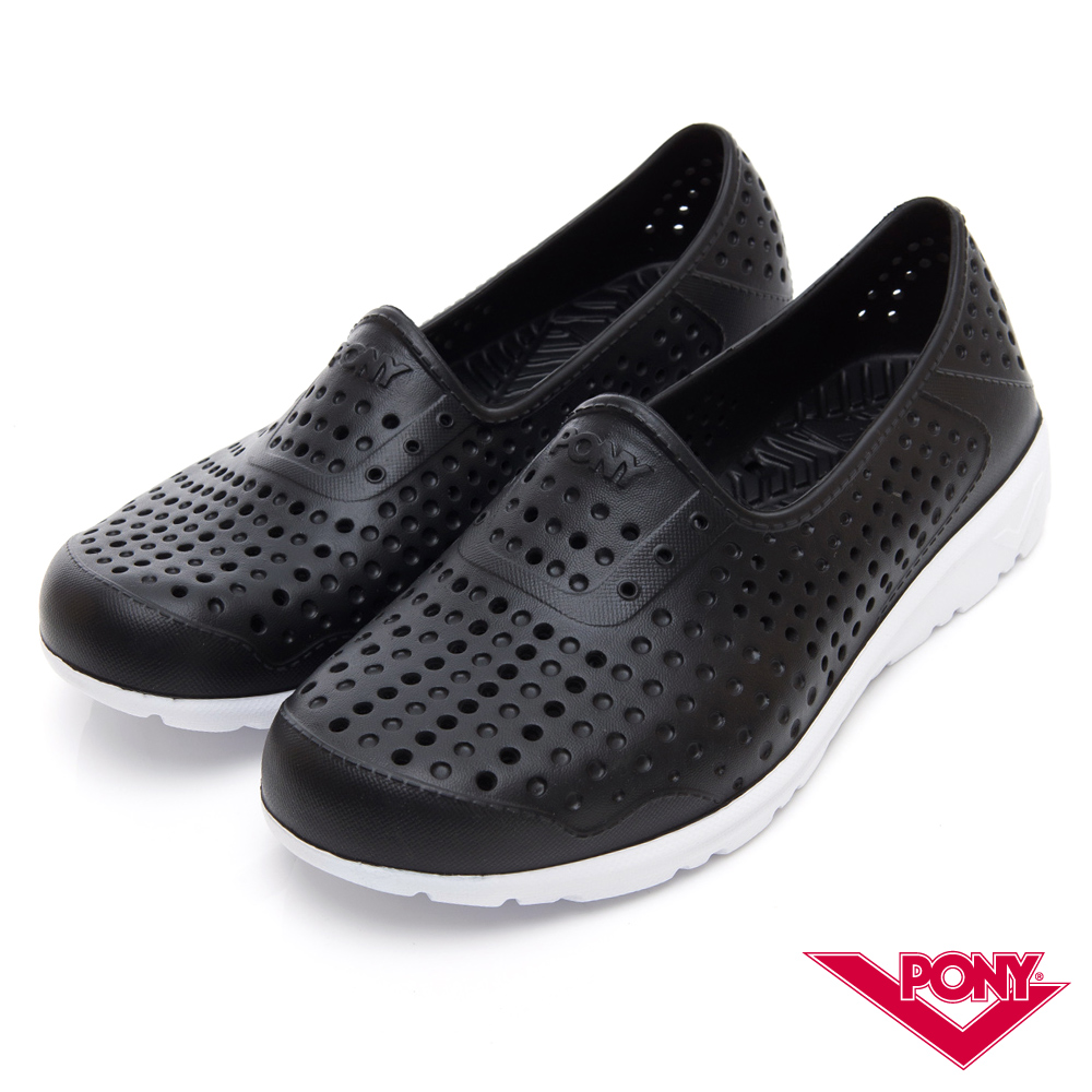 【PONY】TROPIC 輕量舒適GOGO鞋 涼鞋 拖鞋-中性-黑