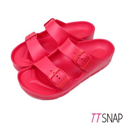 TTSNAP拖鞋-MIT輕量運動休閒拖鞋 紅