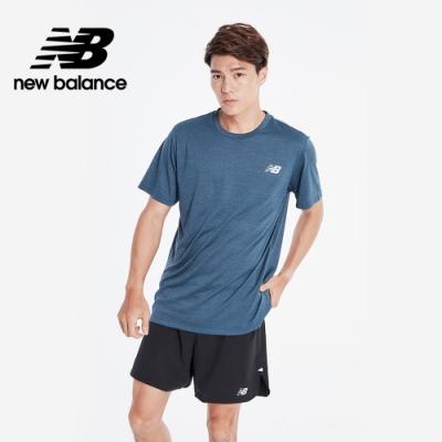 New Balance NB DRY花紗短袖上衣_男性_灰藍_AMT01012SNB