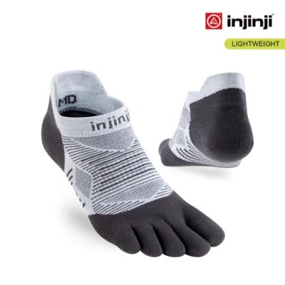 【INJINJI】RUN 輕量吸排五趾隱形襪 [灰色]