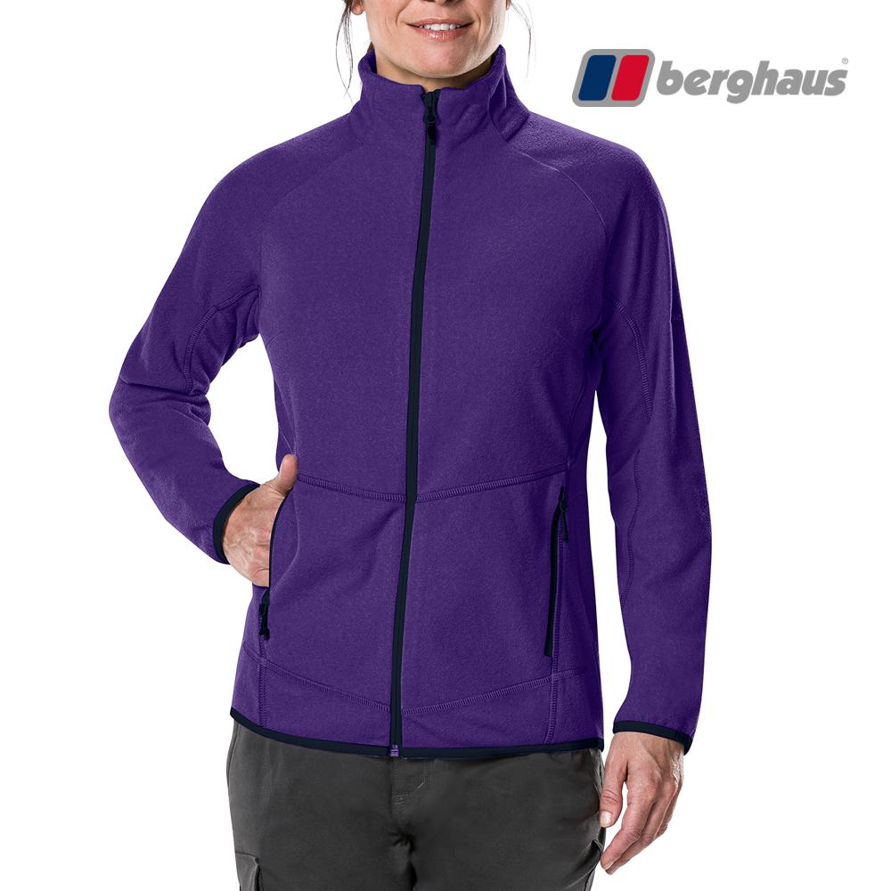 【Berghaus貝豪斯】女款刷毛保暖外套H22F33紫色