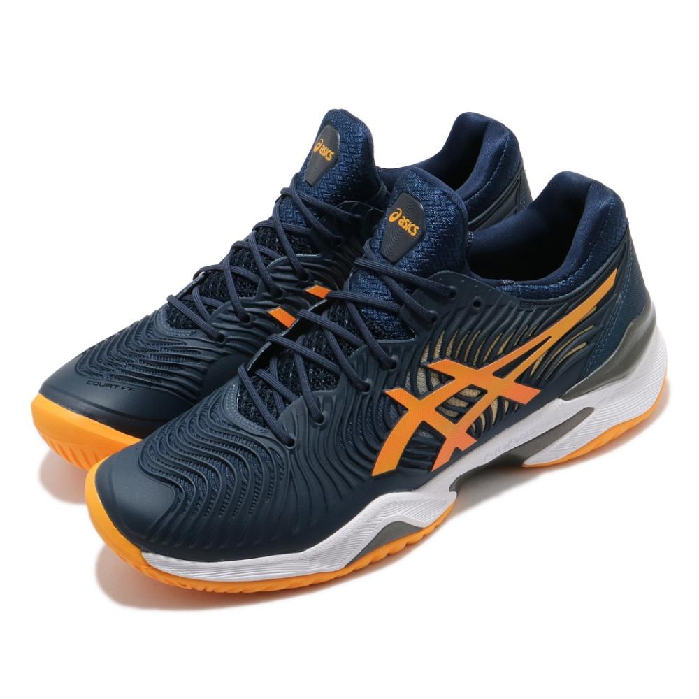 Asics 網球鞋 Court FF 2 澳網 球王鞋款 男鞋 亞瑟士 膠底 緩衝 耐用 避震 藍 橘 1041A083402