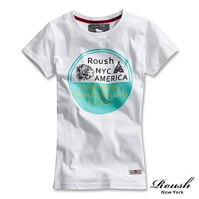 Roush 女生美式印地安柔棉短TEE(3色)