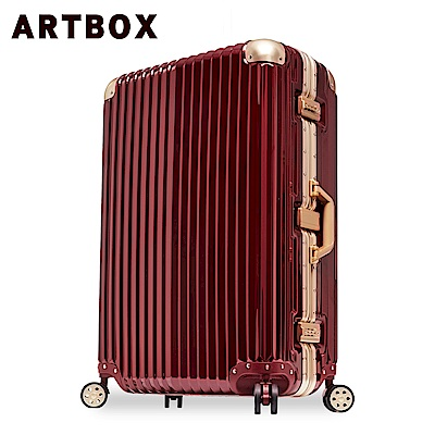 【ARTBOX】超次元 26吋PC鏡面鋁框行李箱(鋼鐵紅)
