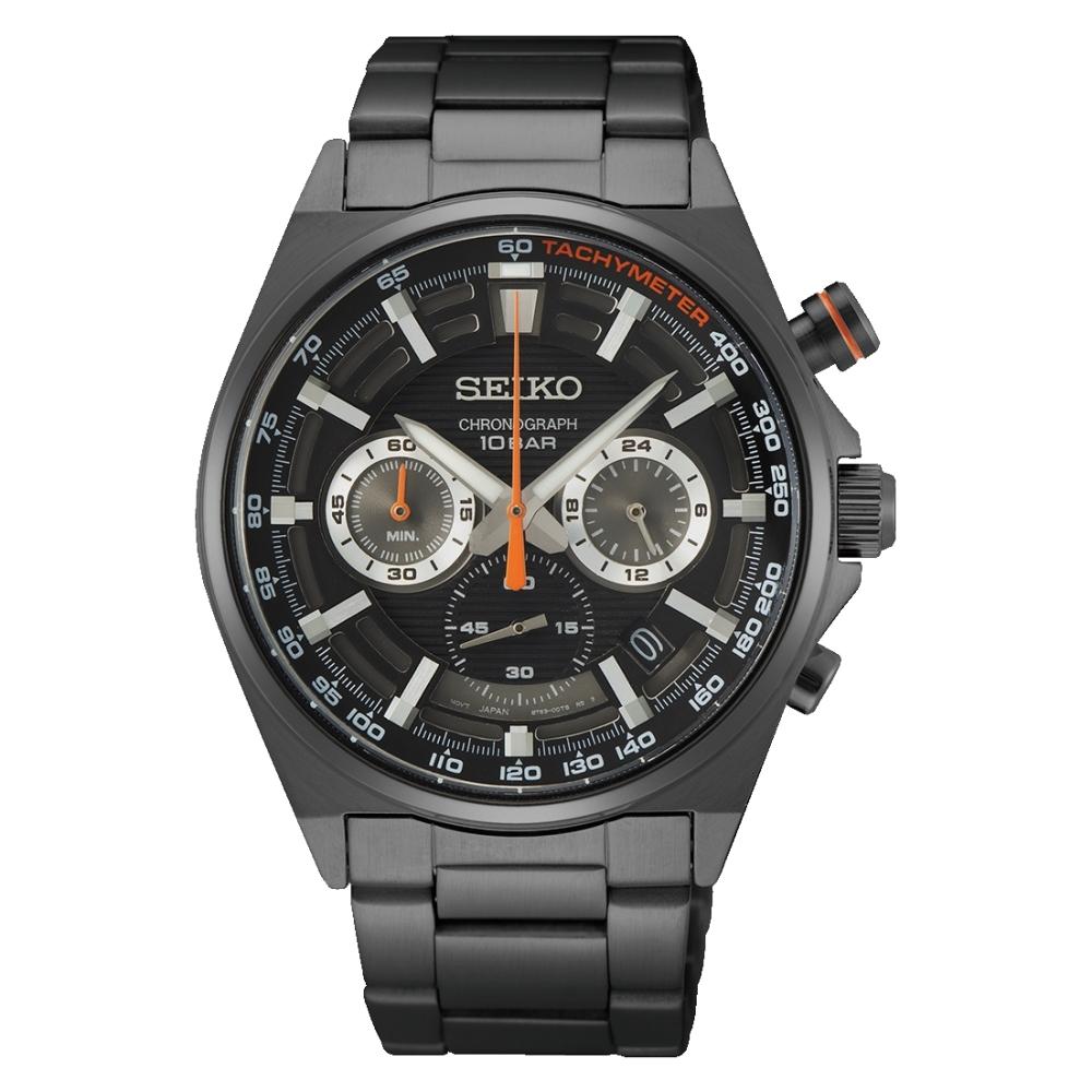 SEIKO精工 潮流經典三眼計時腕錶8T63-00T0SD(SSB399P1)