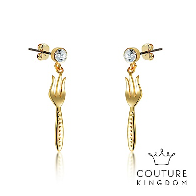 Disney Jewellery by Couture Kingdom小美人魚叉子鍍金耳環
