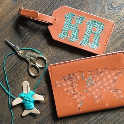 Chasing Threads 旅人印記小奢華組合 護照套+行李吊牌任選