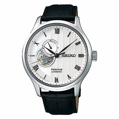 SEIKO 精工Presage 羅馬開芯機械腕錶-黑4R39-00W0P/SSA379J1