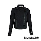 Timberland 女款黑色編織款機車外套|B3801