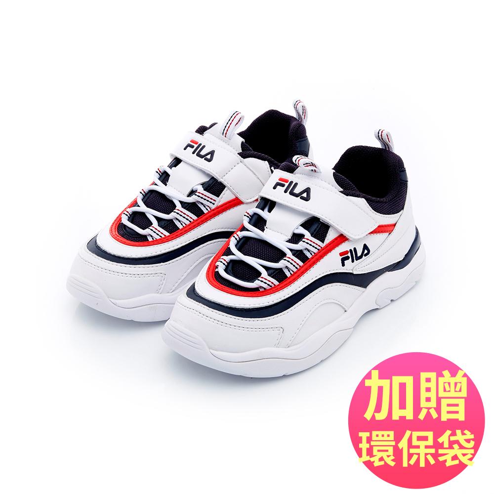 FILA KIDS FILA RAY 大童復古運動鞋-白 3-C466T-123