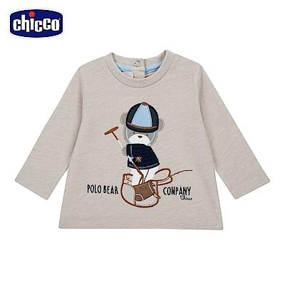 chicco-倫敦熊系列-長袖上衣-卡其(12-24個月)