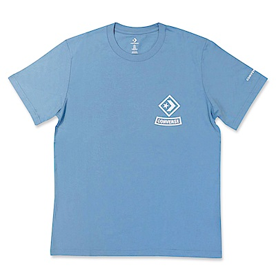 CONVERSE-男短袖上衣-藍-10008131-A03