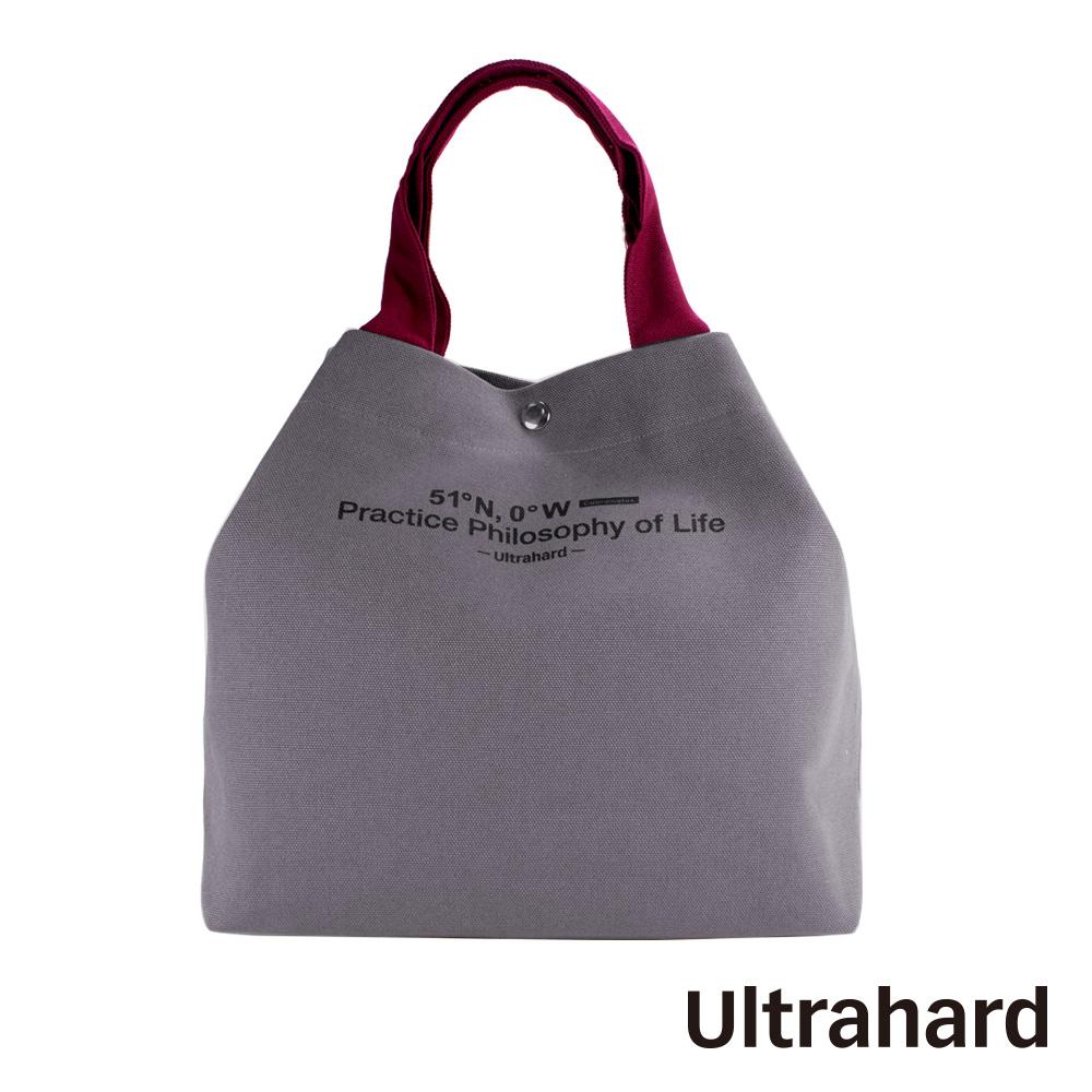 Ultrahard Traveler兩用托特包- 經緯度/倫敦(灰紫紅)