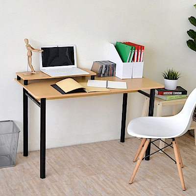 《HOPMA》DIY巧收圓腳工作桌/書桌(附螢幕主機架)-寬105 x深54 x高74.5cm