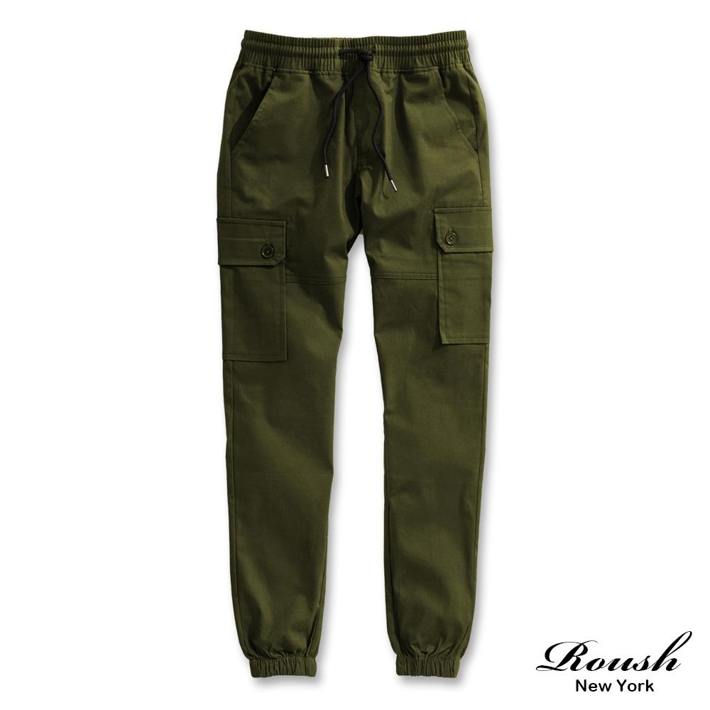 Roush 女生美式雙口袋水洗束口褲(4色)