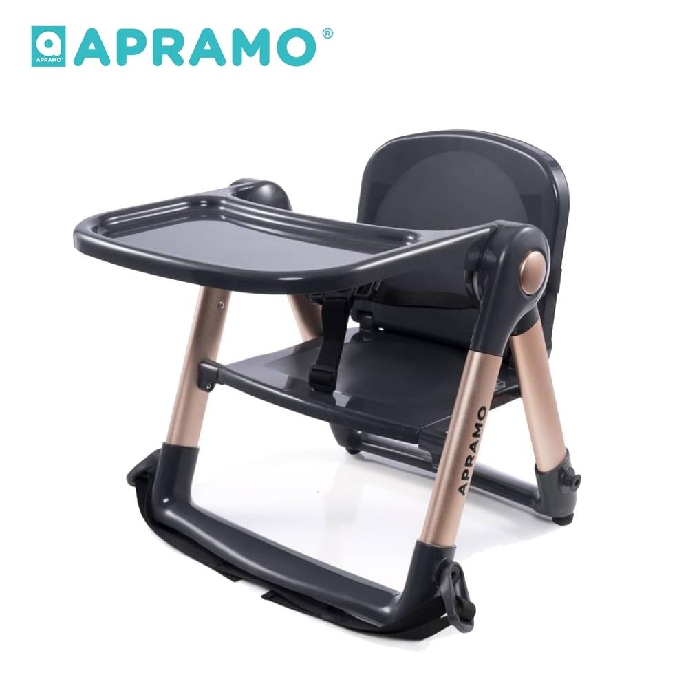 英國《Apramo Flippa》可攜式兩用兒童餐椅(魔法金)