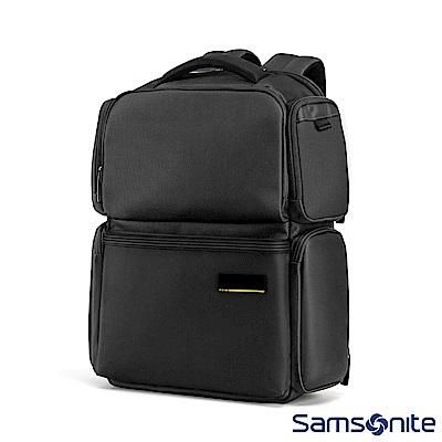 Samsonite新秀麗 Cityscape II多功能防撞拉鍊筆電後背包(黑)
