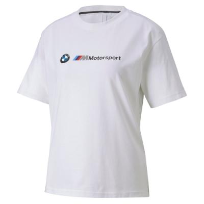 PUMA-女性BMW系列MMS Logo短袖T恤-白色-歐規