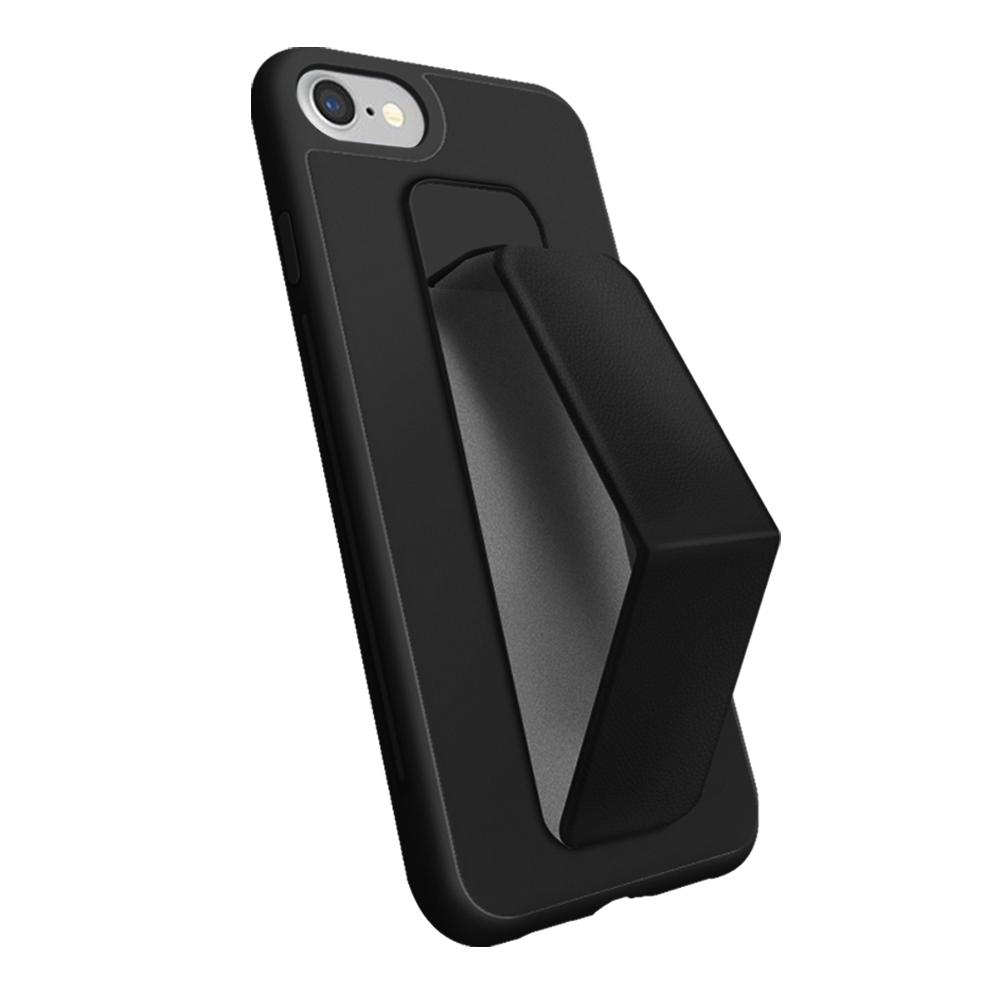 iPhone 6/7/8 Plus 手機 強力磁吸 防摔防撞 立架 支架 手機 保護殼 -黑色款*1