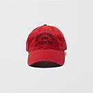 A&F 經典電繡文字復古鴨舌老帽-紅色 AF Abercrombie