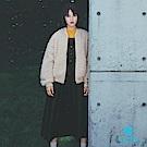 earth music 廣瀨鈴著用款-2WAY兩面穿短版毛絨MA-1夾克外套