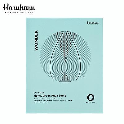 Haruharu 奇蹟活氧深層水潤蜂蜜綠茶保濕面膜 25g*5入/盒