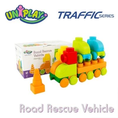 DELSUN岱森城 UNIPLAY抗菌軟積木 交通系列 道路救援組