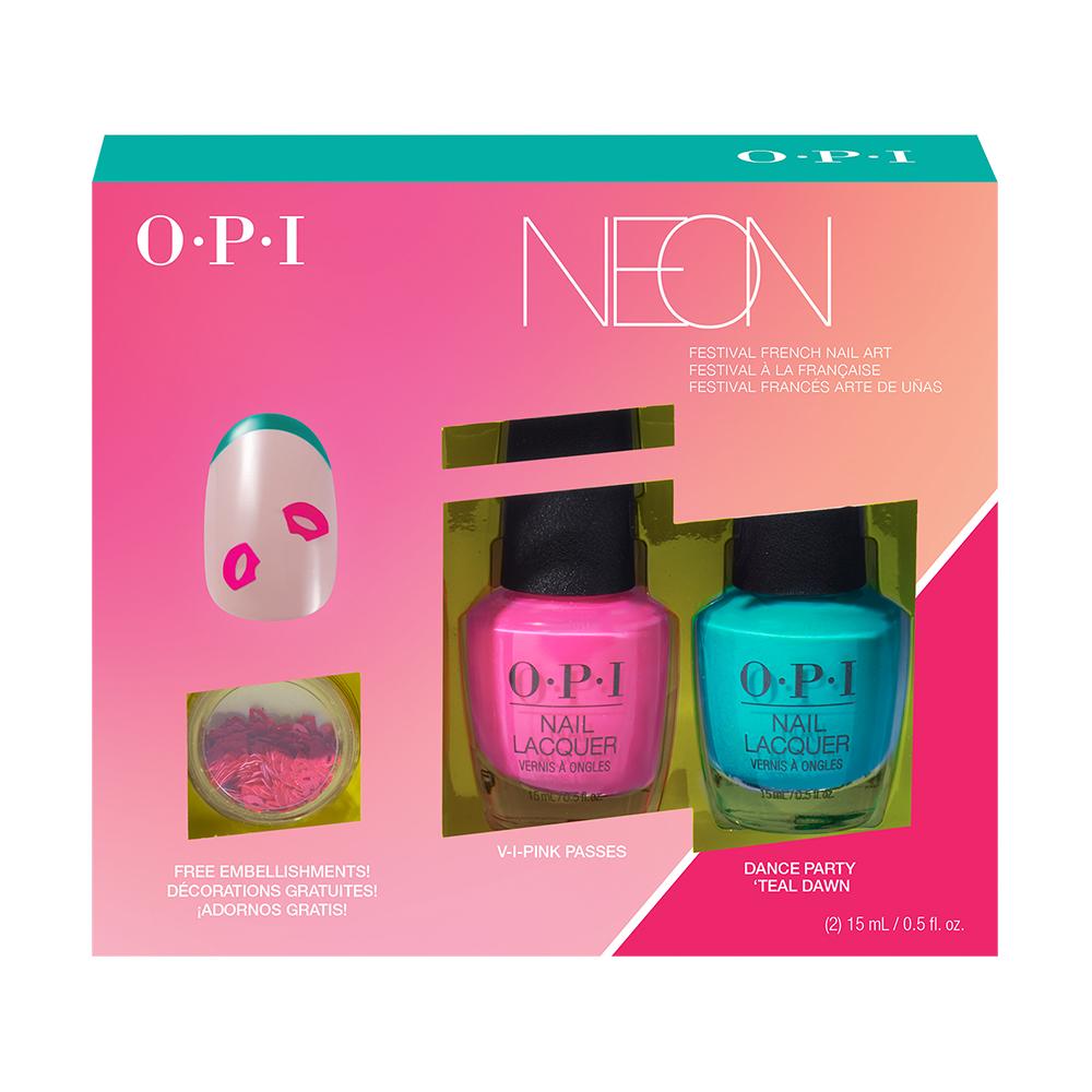 OPI 霓虹搖滾派對系列.霓虹搖滾派對指尖搖滾2入組 (DDN05)