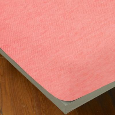 YVONNE COLLECTION 細條紋純棉床包(單人105x186公分)-粉橘