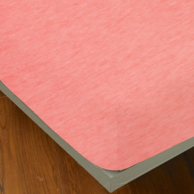 YVONNE COLLECTION 細條紋純棉床包(雙人150x186公分)-粉橘