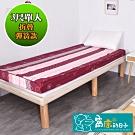窩床的日子-折疊彈簧款(彈簧10cm床墊) 彈簧結構高支撐性床墊 含布套(單人)