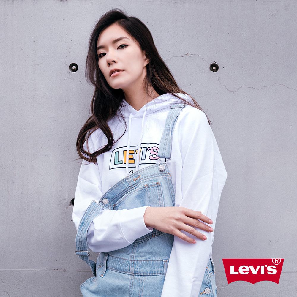 Levis 女款 牛仔吊帶褲 Baggy復古寬鬆版型 Lyocell天然環保纖維
